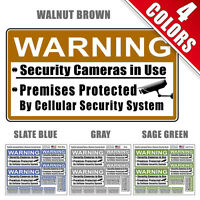 Home Security System & Camera Warning Decals - 10 Decals