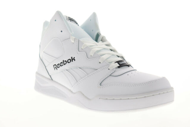 8ee91e73fcb Reebok Royal Bb4500H2 Xe Mens White Leather High Top Sneakers Shoes