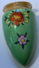 Made in Japan Green flowered Wall Sconce signed with dove