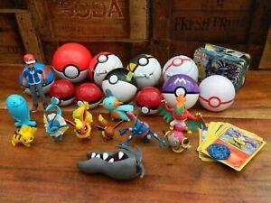 Pokemon-Toy-Bundle-Tomy-Pokeball-and-Figures-Cards-and-Tin