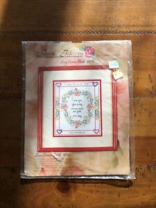 """Sandi Phipps Counted Cross Stich """"love Comes Back"""" 10"""" X 8.5"""