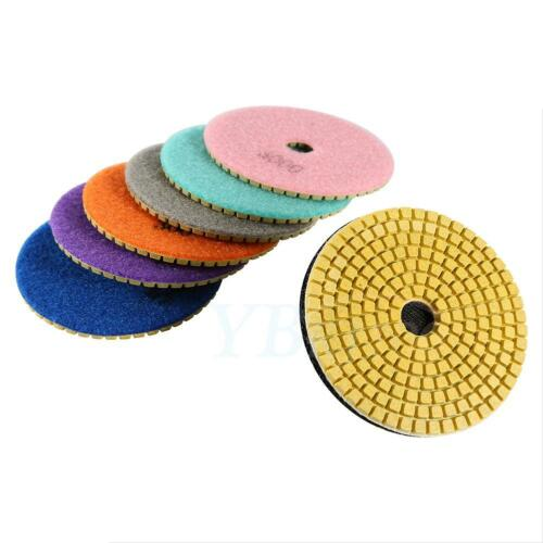 Diamond Polishing Pads 4 inch Wet//Dry Set /& Backer Granite Stone Concrete Marble