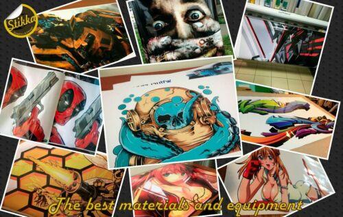 Vinyl Car Hood Wrap Full Color Graphics Decal Mortal Kombat Scorpion Sticker #2