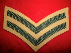 Corporal-039-s-Stripes-Rank-Patch-Light-Infantry-Green-On-Maize