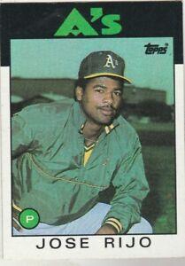 FREE-SHIPPING-MINT-1986-Topps-536-Jose-Rijo-Athletics-PLUS-BONUS-CARDS