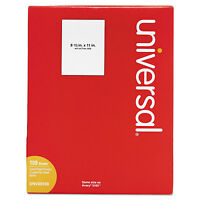 Universal Laser Printer Permanent Labels 8 1/2 X 11 White 100/box 80109