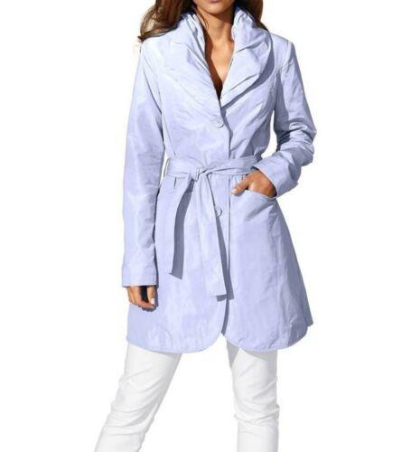 Ashley Brooke Damen Designer-Trenchcoat hellblau