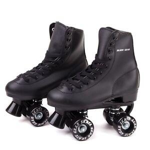 Skate Gear Roller Skate Kids Youth Adult Men Women Size Black White ... 2d8669e0e9