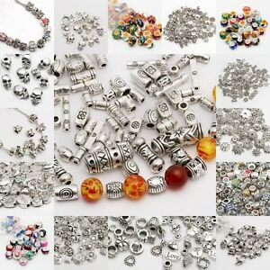 150pcs-Mixed-Tibet-Silver-Beads-Spacer-For-Jewelry-making-European-Bracelet
