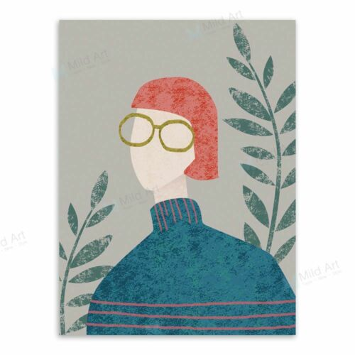 Modern Abstract Fashion Girl A4 Posters Vintage Retro Home Decor Canvas Painting