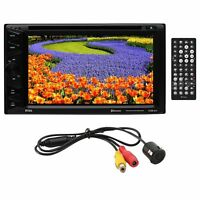 Boss 6.2 D.din Dvd/bt With License Plate Backup Camera