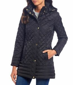 Preston-amp-York-Womens-Jacket-Black-Size-XL-Hooded-Full-Zip-Quilted-149-147