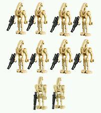 LEGO Star Wars BATTLE DROID Minifigure Lot pack x 10 tan Robots w blasters guns
