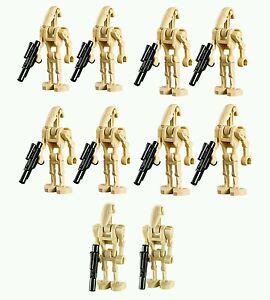 LEGO-Star-Wars-BATTLE-DROID-Minifigure-Lot-Army-pack-10-blaster-gun-straight-arm