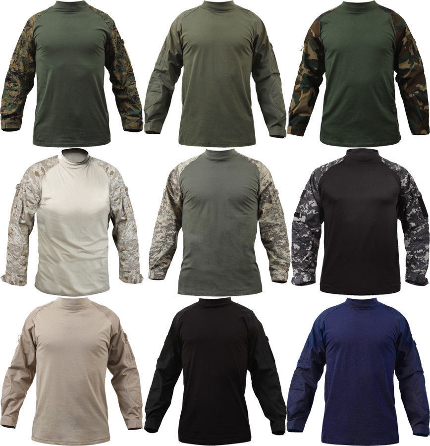 Long Sleeve Combat Shirt Heat Resistant  Tactical Military  redhco
