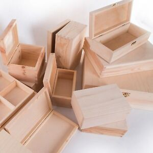 4f240a2d8 Image is loading Small-Wooden-Boxes-SELECTION-Trinket-Keepsake-Jewellery -Memory-