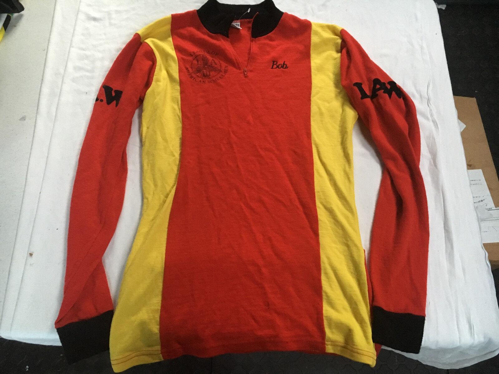 Vintage League American WheelHommes hommeches longues Jones Maillot de cyclisme Adulte droit