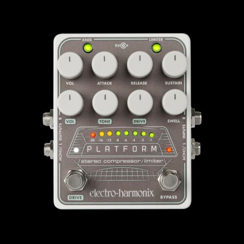 Electro-Harmonix EHX Platform Stereo Compressor//Limiter Guitar Effects Pedal