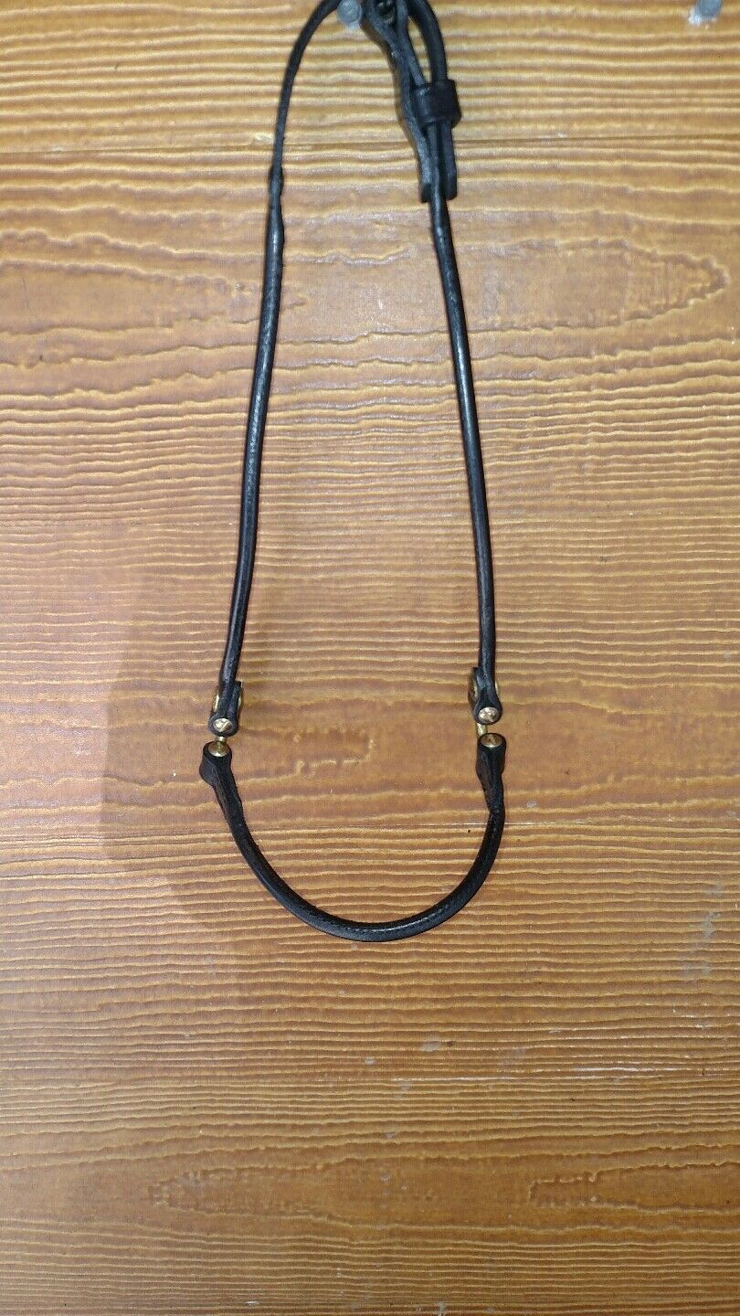 New  Leather Show Halter With gold Rings. Classic rolled nose and sides. Yearling  first time reply
