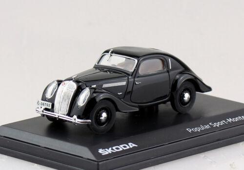 SKODA popular Sport Monte Carlo NERO 1:43 ABREX modello di auto abh903d
