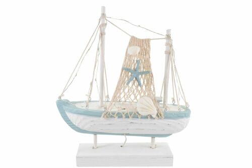 Wooden Nautical Sail Boat Decoration With LED Lights ~ Model Trawler Ornament