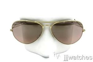 f4ee30059 New Ray Ban Aviator Classic Silver/Pink Mirror Sunglasses RB3025 001 ...