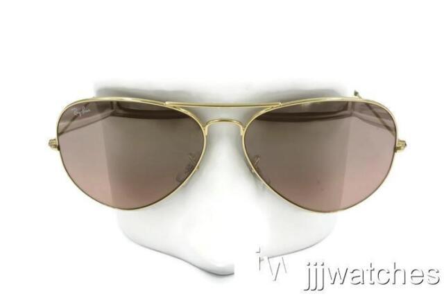e0069d52a18 New Ray Ban Aviator Classic Silver Pink Mirror Sunglasses RB3025 001 3E 62   165