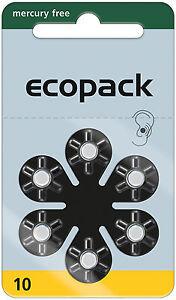 60-x-Varta-Ecopack-Gr-10-Hoergeraetebatterien-10x-6er-Blister-Gelb-1-4V-PR70
