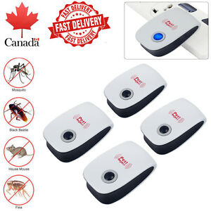 4pcs Noiseless Ultrasonic Electronict Pet Repeller Reject Anti Mosquito Pest Bug