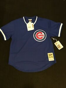 check out 23426 ba40b Details about Mitchell Ness 1984 Chicago Cubs Ryne Sandberg Batting  Practice Jersey M and L