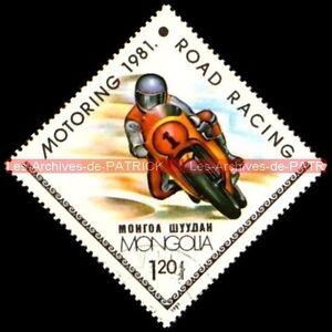 MOTORING ROAD RACING (3) 1981 MONGOLIA MONGOLIE Timbre Poste Moto Stempel Stamp - France - TIMBRE POSTE MOTO MOTORING ROAD RACING (3) Pays : MONGOLIA - MONGOLIE Année : 1981 Oblitéré , trs bon état Dimensions : 48x48 mm !!! Document Original ; NO COPY !!! Inscrivez-vous PayPal. Cest simple, rapide et gratuit. Noubliez pas de majout - France