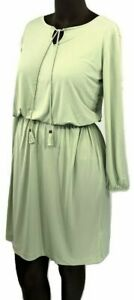 New-55-value-Belle-by-Kim-Gravel-Size-Small-Sage-Knit-Peasant-Dress-w-Tassels