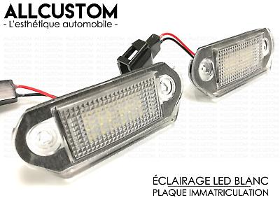 Vis LED eclairage plaque immatriculation Chrome