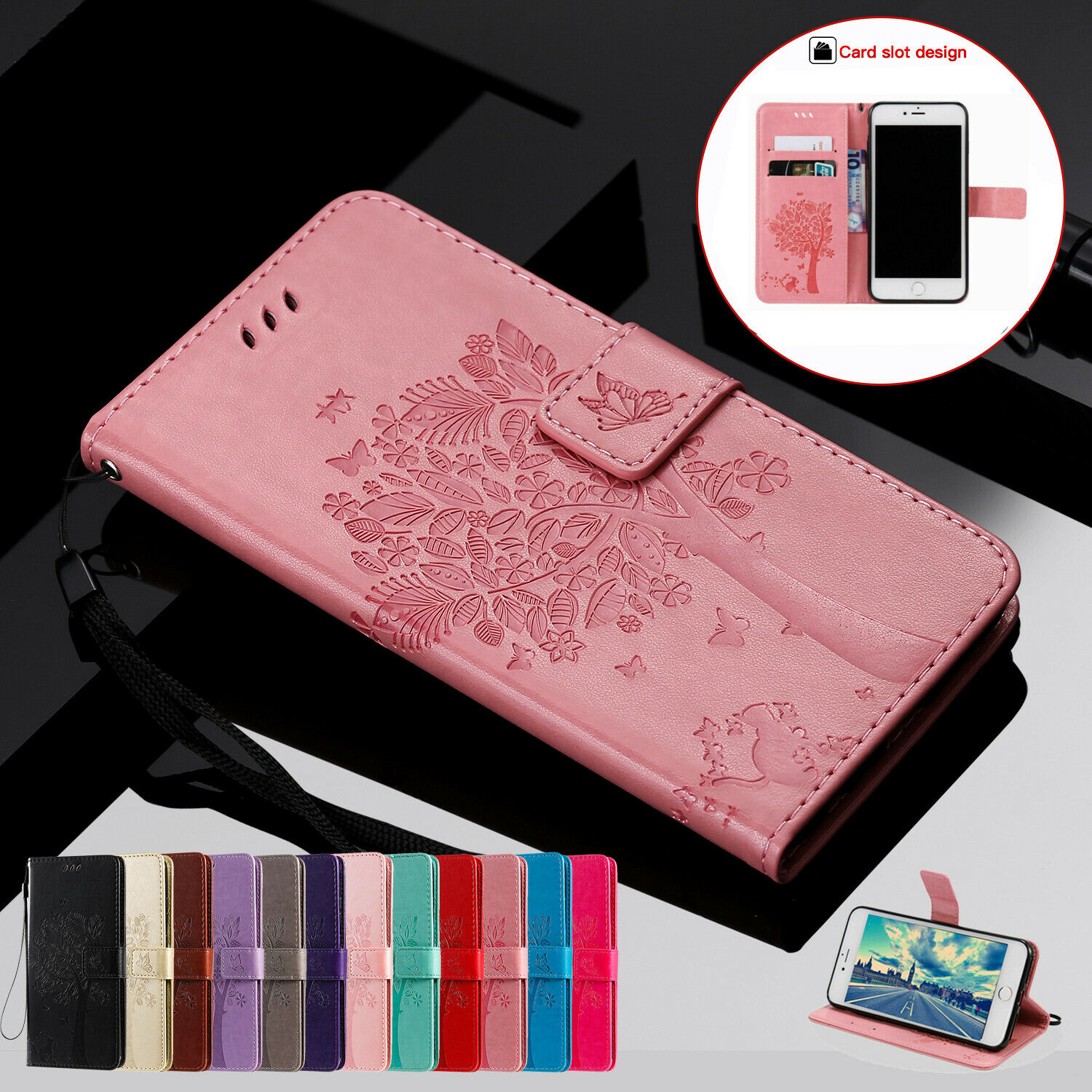 Magnetic Leather Wallet Case For iPhone 12 Pro Max 11 8 76 SE X XS XR Flip Cover
