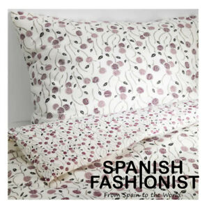 IKEA-MAJVIVA-Quilt-cover-and-2-pillowcases-white-lilac-240x220-50x60-cm