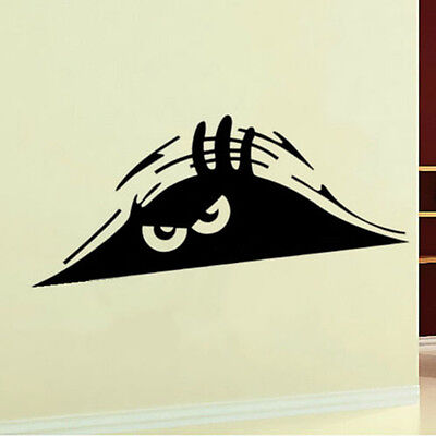 Cool Peeking Monster Auto Wall Toilet Window Sticker Graphic Vinyl Car Decal CN