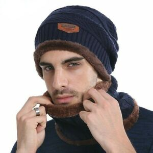 Image is loading AKIZON-Winter-Beanie-Knitted-Hat-Scarf-Skullies-Beanies- 771593d638de