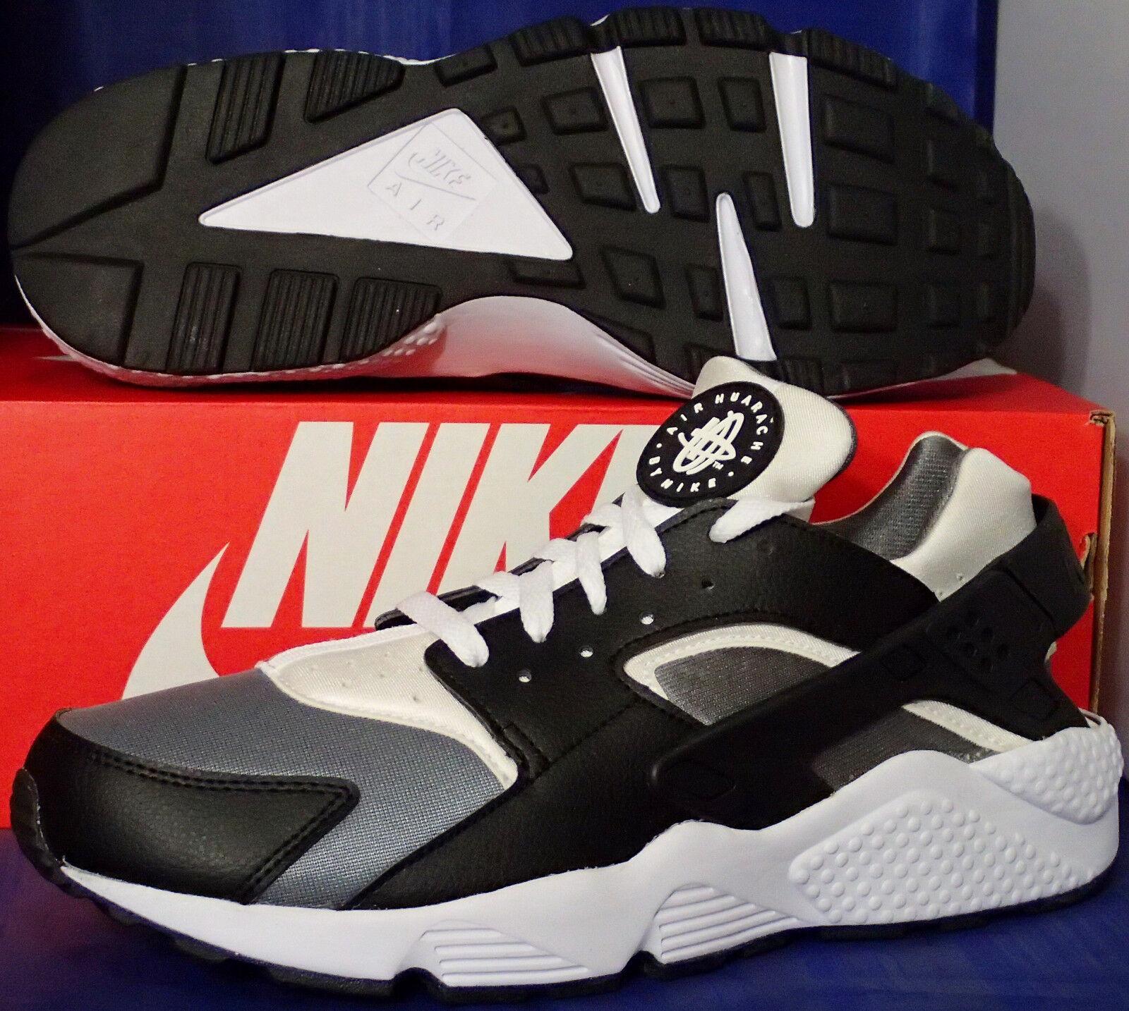 Nike Air Huarache courir iD noir Cool  Gris  blanc SZ 10 ( 777330-994 )