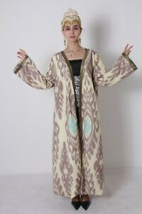 Chapan-Silk-Beautiful-National-Uzbek-Traditional-Robe-Dress-SALE-WAS-225-00