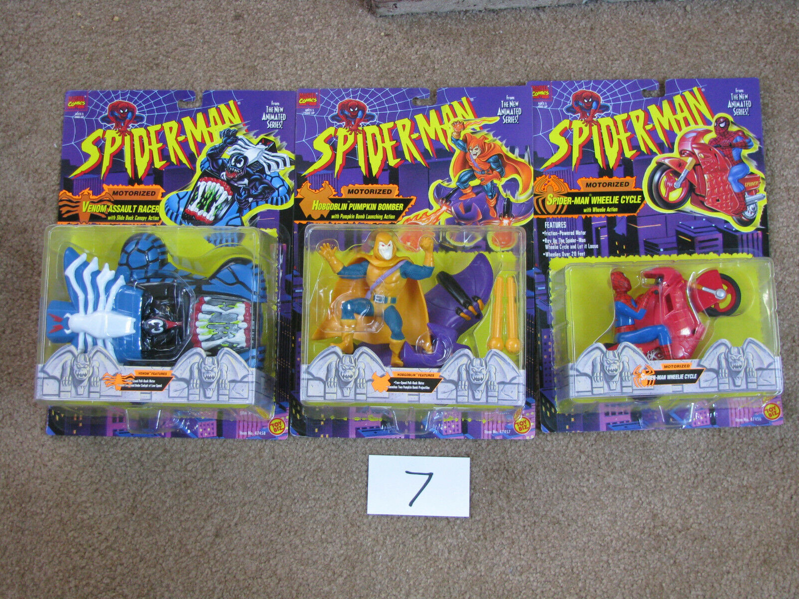 Spider-Man Animated Series 1- 3 Motorized Vehicles - New unopened