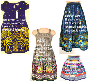 M&S AUTOGRAPH Girls' Purple Dress/Tunic with Yellow Sequins