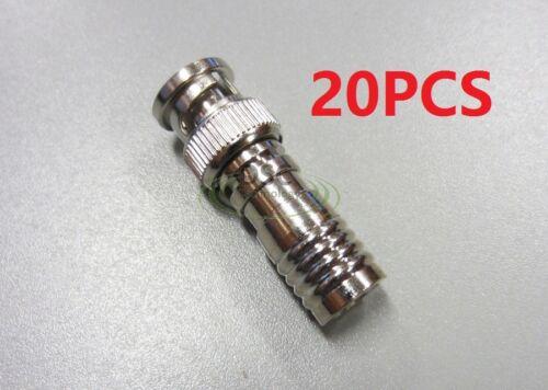20pcs Commercial Grade RG59 Compression BNC Connector