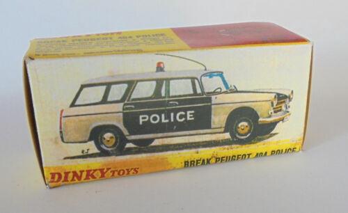 REPRO BOX DINKY n 1429 PEUGEOT 404 Break Police