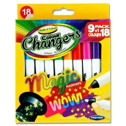 18 couleurs Children/'s couleur changeur special marqueur 10 feutres Pen Set 1Pk