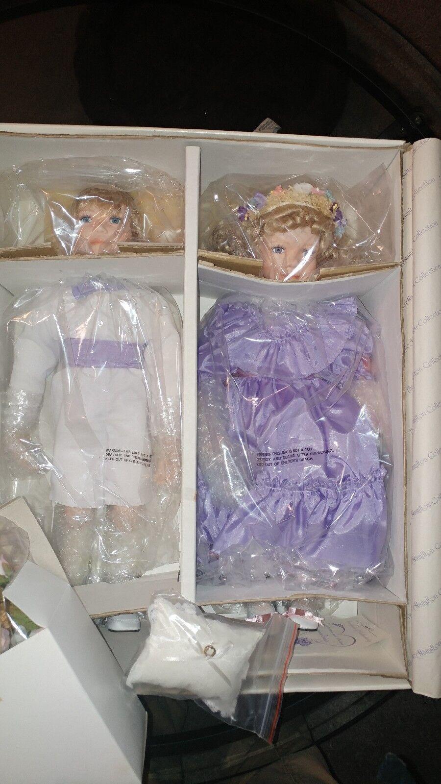 Hamilton collection porcelain dolls Mathew and melanie