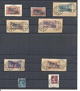 Memel-Litauen-1921-1922-Einzelwerte-aus-MiNrn-40-71-o-geprueft-Huylmans-BPP