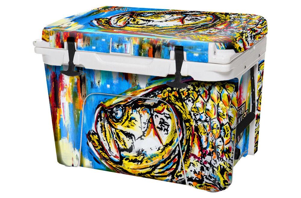 USATuff Custom Cooler Decal Wrap fits YETI Tundra 45qt FULL Danforth Tarpon