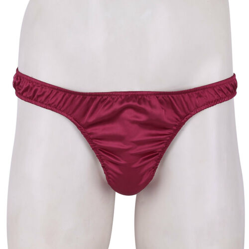 Mens Shiny Satin Soft Jockstrap Pouch Panties Knickers Underpants Trunks Briefs
