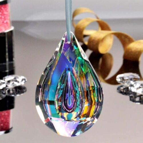 Colorful 76mm Chandelier Crystals Glass Lamp Prisms Parts Hanging Drops Pendant