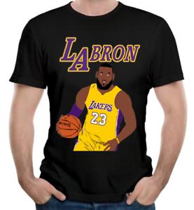 846b38fa2ca8 Lebron James La Lakers Jersey Print T-shirt King of NBA Men Women ...